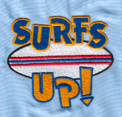 Surfs Up embroidery design