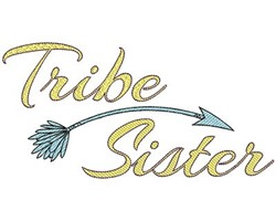Tribe Sister embroidery design