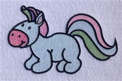Pony Cartoon embroidery design