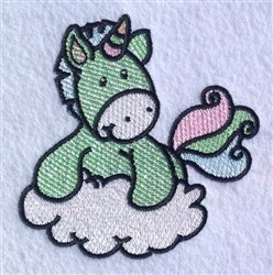 Unicorn On Cloud embroidery design