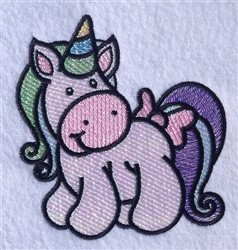 Unicorn Cartoon embroidery design