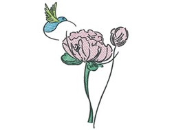 Hummingbird Flower embroidery design