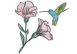 Humminbird Blooms embroidery design