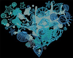 Heart Of The Ocean embroidery design