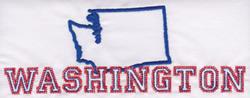 Washington Outline embroidery design