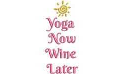 Yoga Now embroidery design