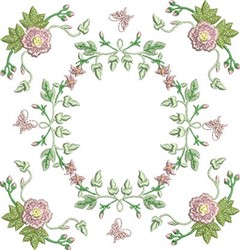 Butterflies & Roses embroidery design