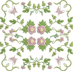 Rose Block embroidery design