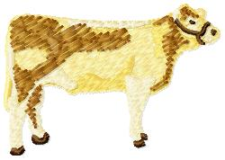 Beef Cow embroidery design