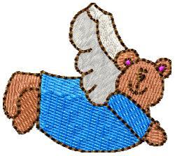 Angel Bear embroidery design