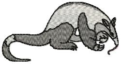Anteater embroidery design