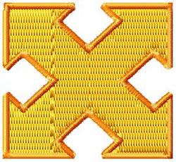 Arrow 6a embroidery design