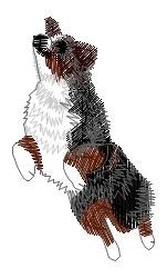 Australian Cattle Dog embroidery design
