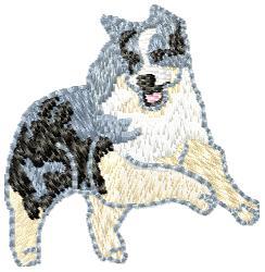 Australian Shepherd embroidery design