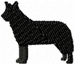 Australian Cattle Dog Silhouette embroidery design