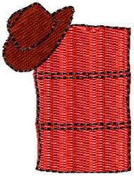 Barrel with Cowboy Hat embroidery design