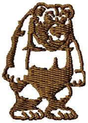Grumpy Bear embroidery design