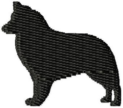 Belgian Shepherd Dog Silhouette embroidery design