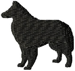 Belter Dog Silhouette embroidery design