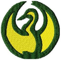 Circle Crane embroidery design