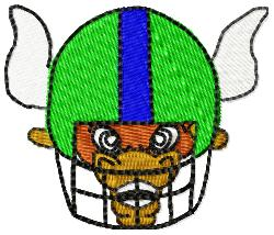 Bison Football embroidery design