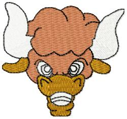 Bison Head 1 embroidery design