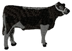 Black Cow embroidery design
