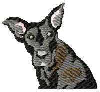 Great Dane Puppy embroidery design