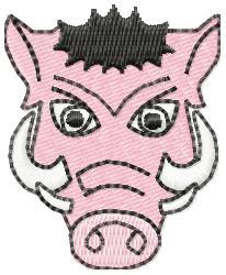 Boar Head- small embroidery design
