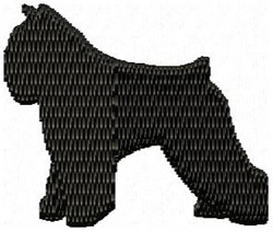 Bouvier Dog Silhouette embroidery design