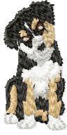 Border Collie Puppy embroidery design
