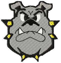 Bulldog Large embroidery design