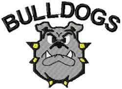 Bulldogs Lg. embroidery design