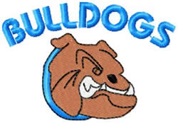 Bulldogs 5 embroidery design