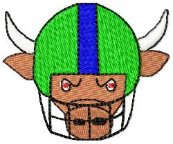 Bull Football embroidery design