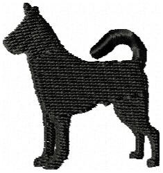 Canaan Dog Silhouette embroidery design