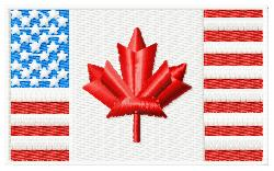 Canadian/American Flag embroidery design