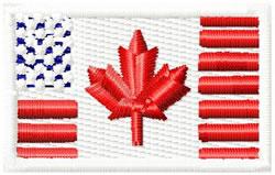 Canada US Flag Small embroidery design