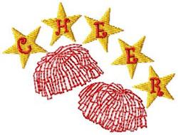 PomPom Stars embroidery design