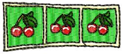 Slot Machine Winner embroidery design