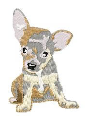 Chihuahua Pup embroidery design