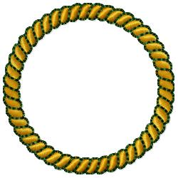 Rope Circle Border embroidery design