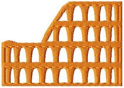 Roman Coliseum embroidery design
