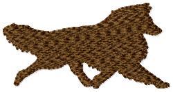 Collie Silhouette embroidery design