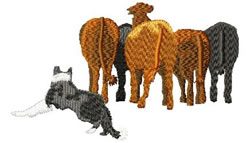 Cattle Herding Dog embroidery design