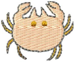Crab Silhouette embroidery design