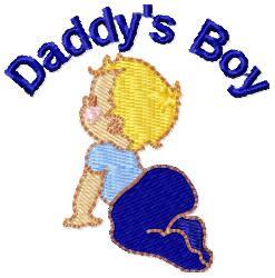 Daddys Boy embroidery design