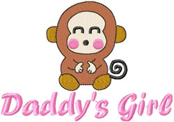 Daddys Girl embroidery design