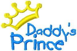 Daddys Prince embroidery design