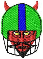 Devil Football embroidery design
